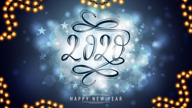 Goldren 2020 Happy New Year Greeting Card