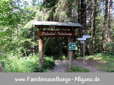 Eingang zum Ostertal-Tobel