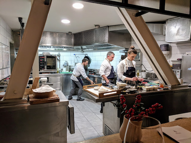 Places to eat in Bilbao: A view into the kitchen at Mina Restaurant