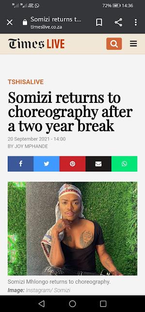 Finally Somizi returns