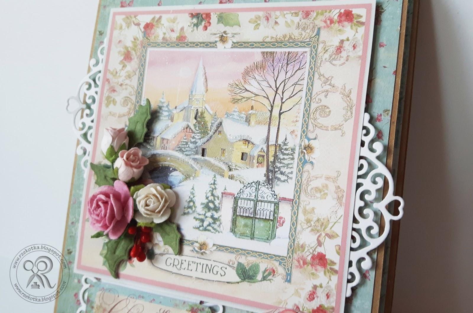 Świecąca kartka świąteczna