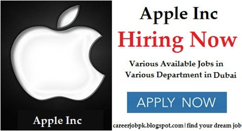 Job vacancies in Apple Company Dubai 2016