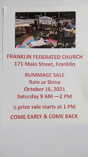 Franklin Federated: Rummage Sale - Oct 16