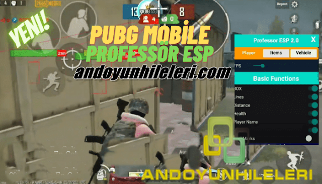 PUBG Mobile Hileli Apk - Professor ESP v2.0 Rootsuz Hileli