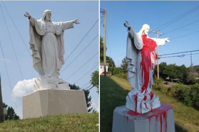 Patung Yesus di Carolina Utara Dirusak Orang Tidak Dikenal