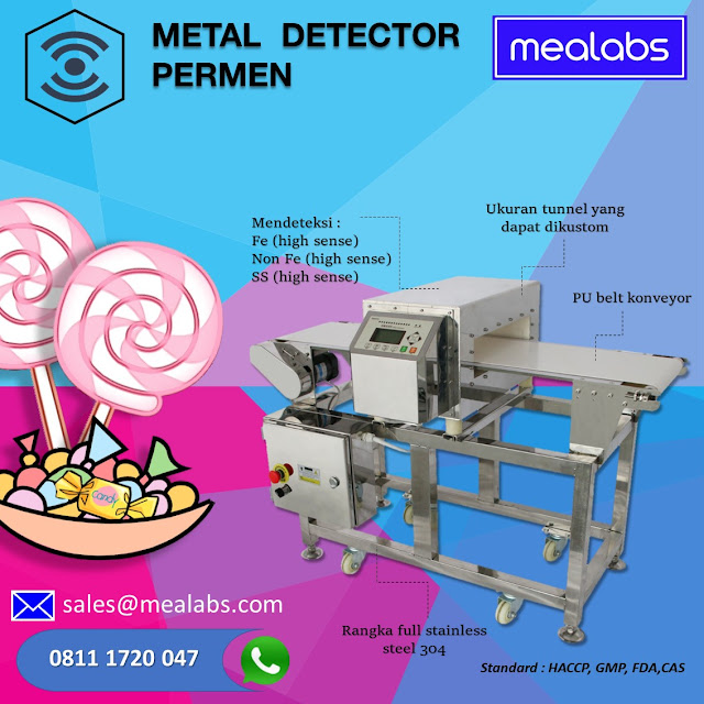 metal detector permen