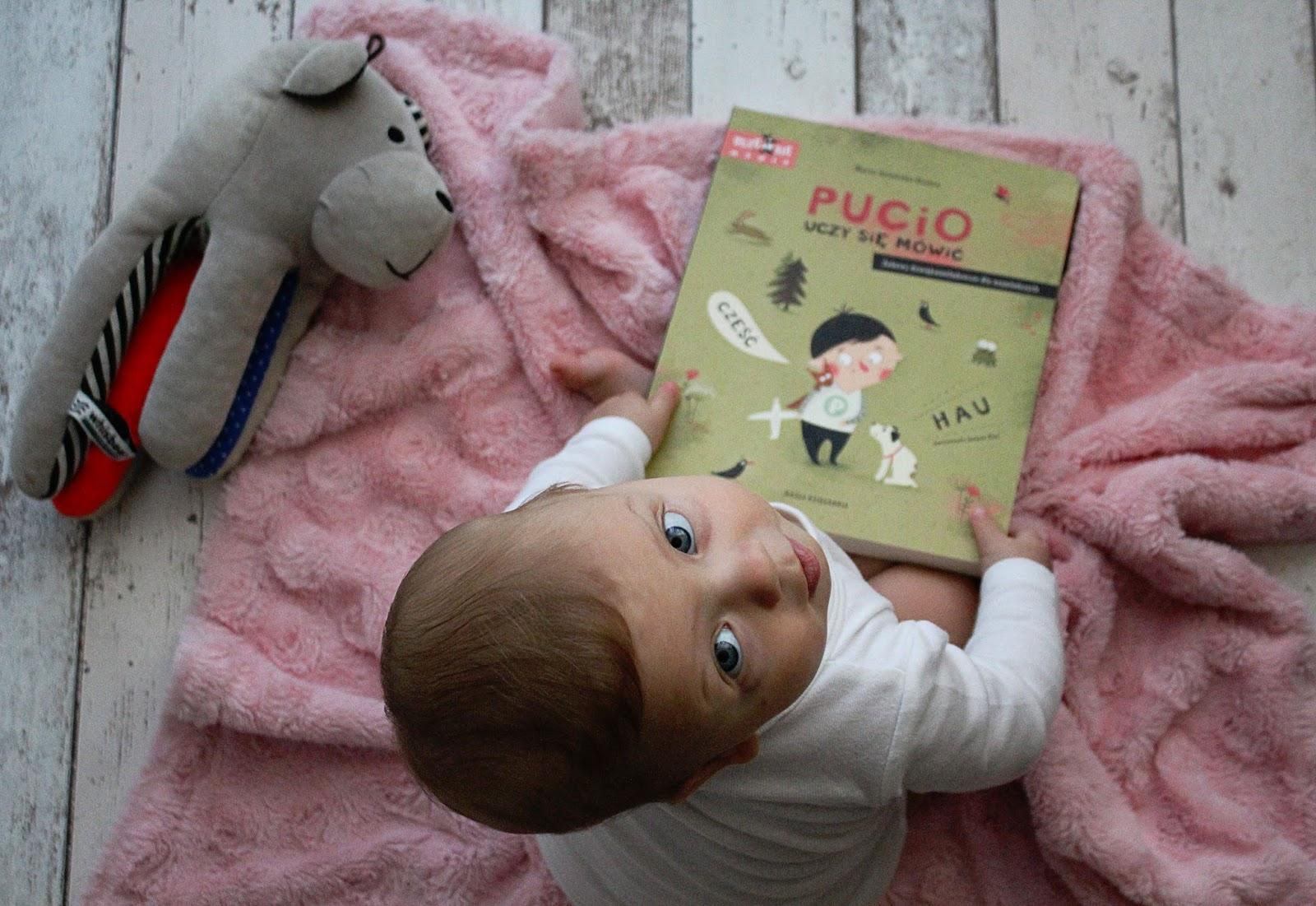 """Z Lilusiowej biblioteczki: """"Pucio uczy się mówić. Zabawy dźwiękonaśladowcze dla najmłodszych"""" Marta Galewska - Kustra"""