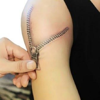 11 gambar tato 3d keren di lengan dan tangan