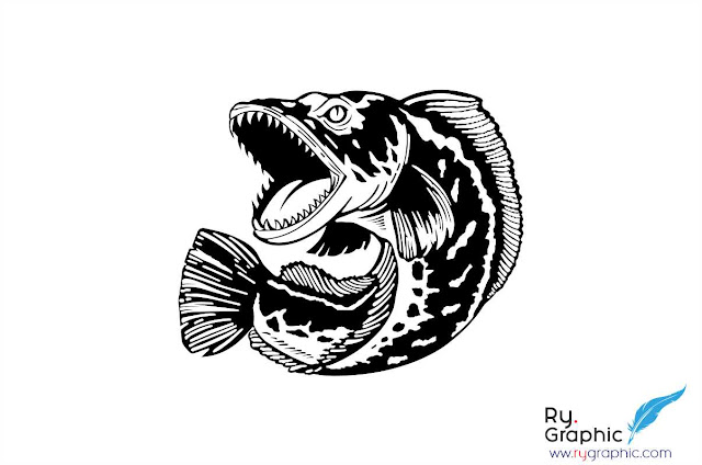 Download Vektor Ikan Gabus Snakehead Cdr. Ai. Eps Vector