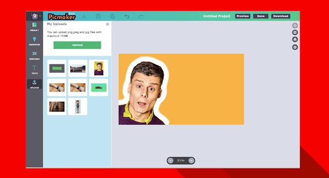 أنشئ  بانر أو صور مصغرة لقناتك على  اليوتوب بسهولة باستخدام موقع PicMaker