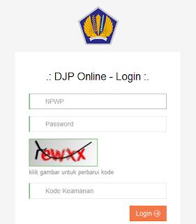 login djp online pajak