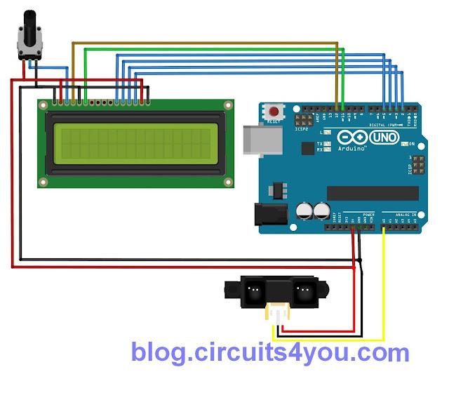 Sharp ir sensor arduino interfacing code circuits you