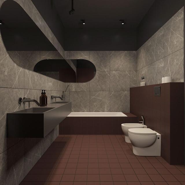 Modern Bathroom Design Black And White