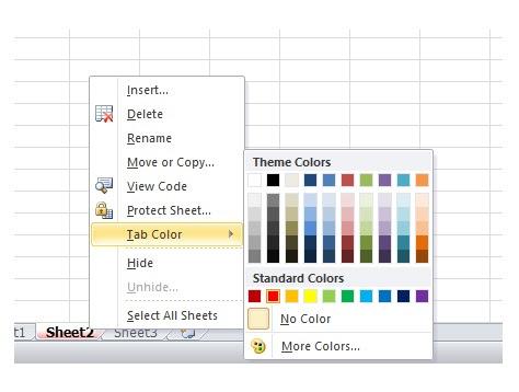 cara memberi warna pada sheet excel