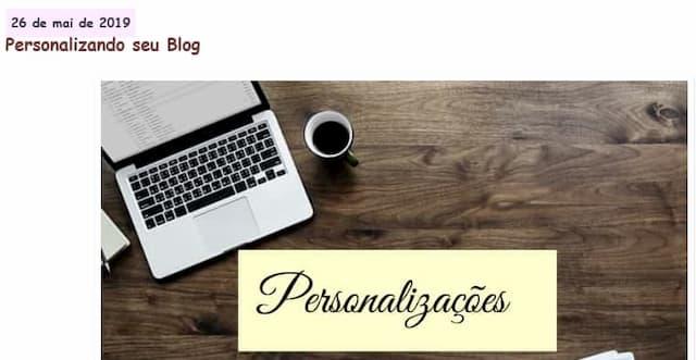 Demonstração da Personalização da data postagem