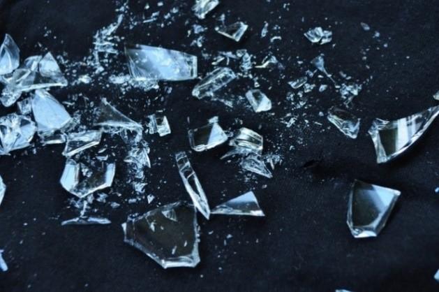 Glas, Gebrochen, Shattered, Glasscherben