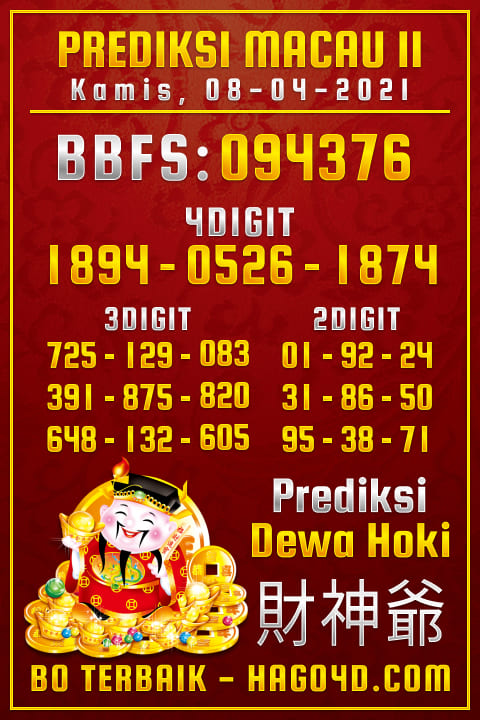 Dewa Hoki - Bocoran Togel Toto Macau P2
