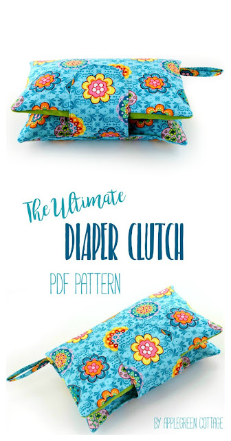 ​This cute and super convenient DIAPER CLUTCH sewing pattern is the perfect handmade gift every new mom would love to have. Also, makes an excellent baby shower present. Totally adjustable: one pattern, many different options! And NOW 33% off, just for the release period. Check it out!