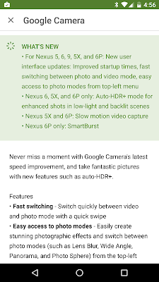 Google Camera App Updated With New UI, Faster Start Times & More Only For Nexus 5, 6, 9, 5x And 6P