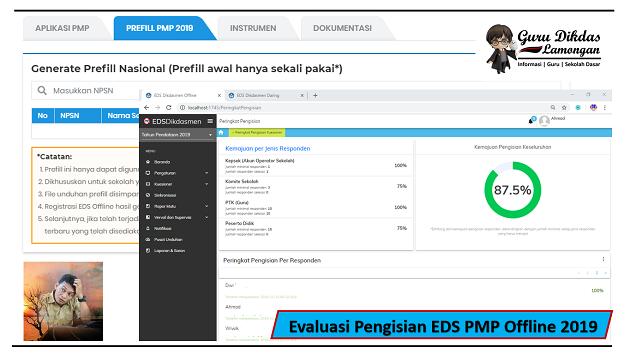 Evaluasi Pengisian EDS PMP Offline 2019