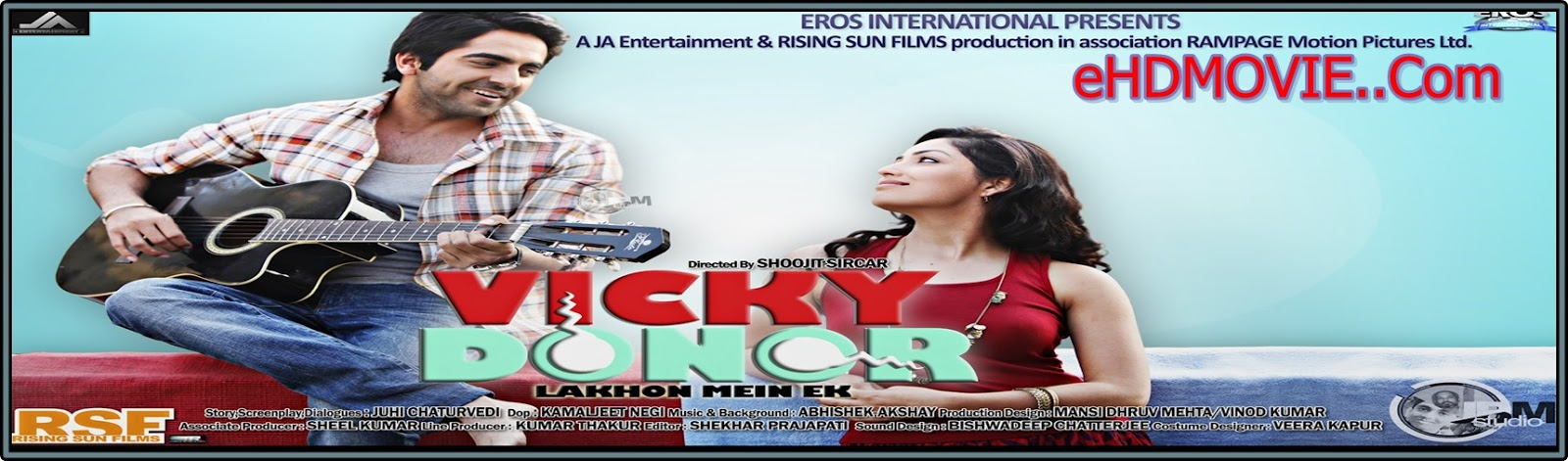Vicky Donor 2012 Full Movie Hindi 720p - HEVC - 480p ORG BRRip 350MB - 600MB - 1GB ESubs Free Download