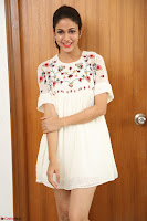 Lavanya Tripathi in Summer Style Spicy Short White Dress at her Interview  Exclusive 286.JPG