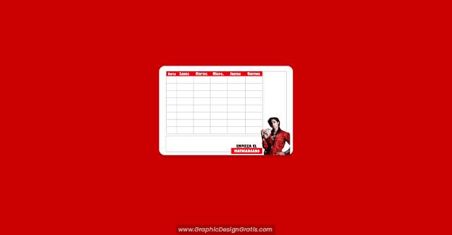 Horario de clases de nairobi en PDF para imprimir