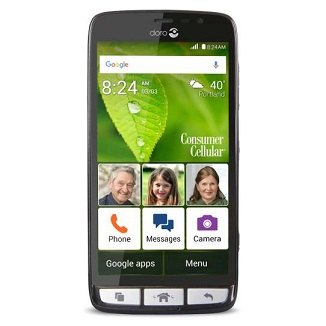 Consumer Cellular Phones for Seniors - Doro 824 Smarteasy ... | 326 x 326 jpeg 17kB