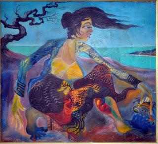 Perempuan dan Rajungan Karya Lukisan Hendra Gunawan