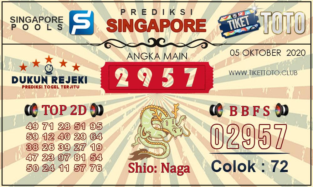 Prediksi Togel SINGAPORE TIKETTOTO 05 OKTOBER 2020