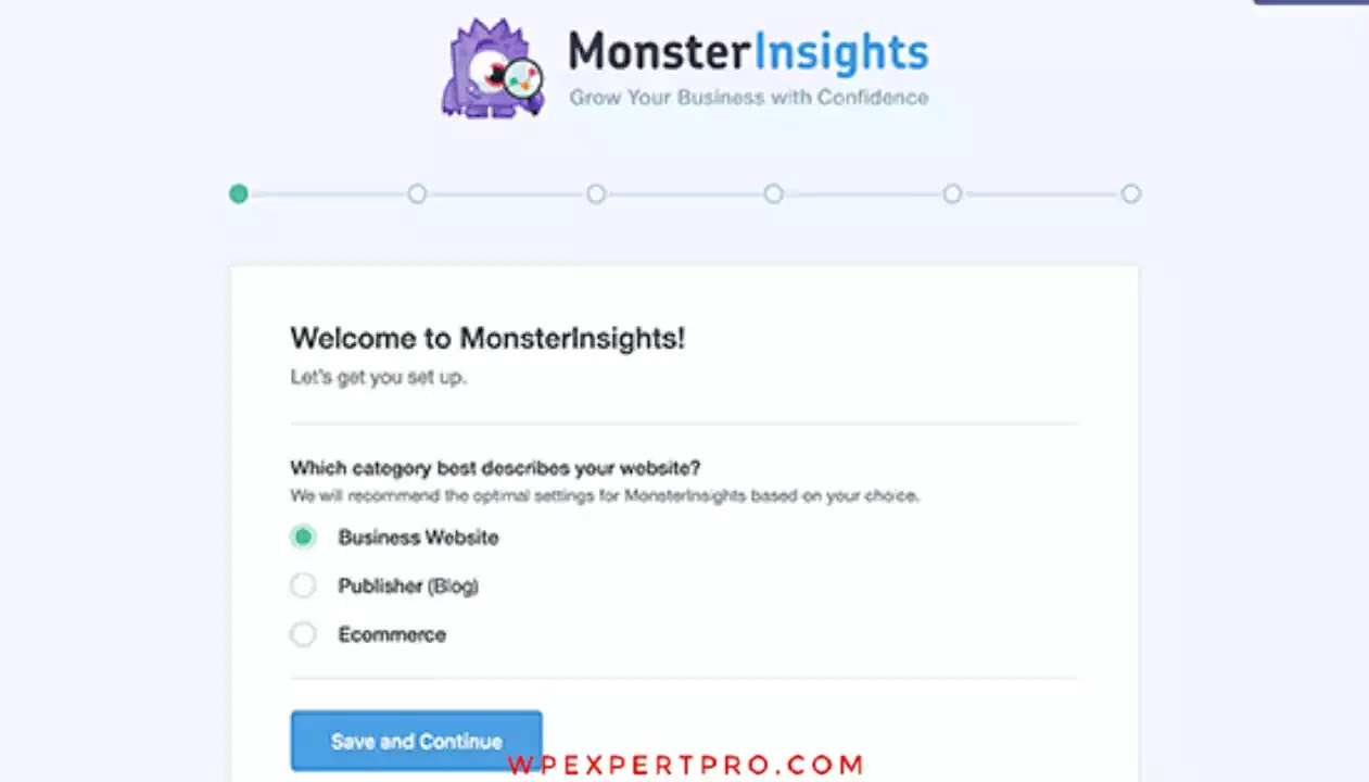 MonsterInsights setup