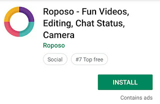 How To complete Roposo- Fun videos, editing, Chat status, Camer  self earning  100 point offer  in champ cash