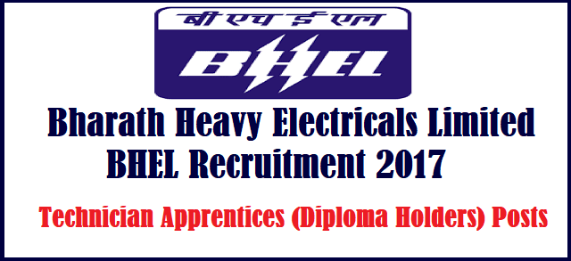 latest jobs, TS Jobs, BHEL Recruitment, Bharath Heavy Electrical Limited, Technical Apprentices, Diploma Holders, Walk-in Interview