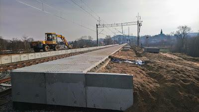 Przystanek Jelenia Góra Zabobrze w budowie (27.11.2018)