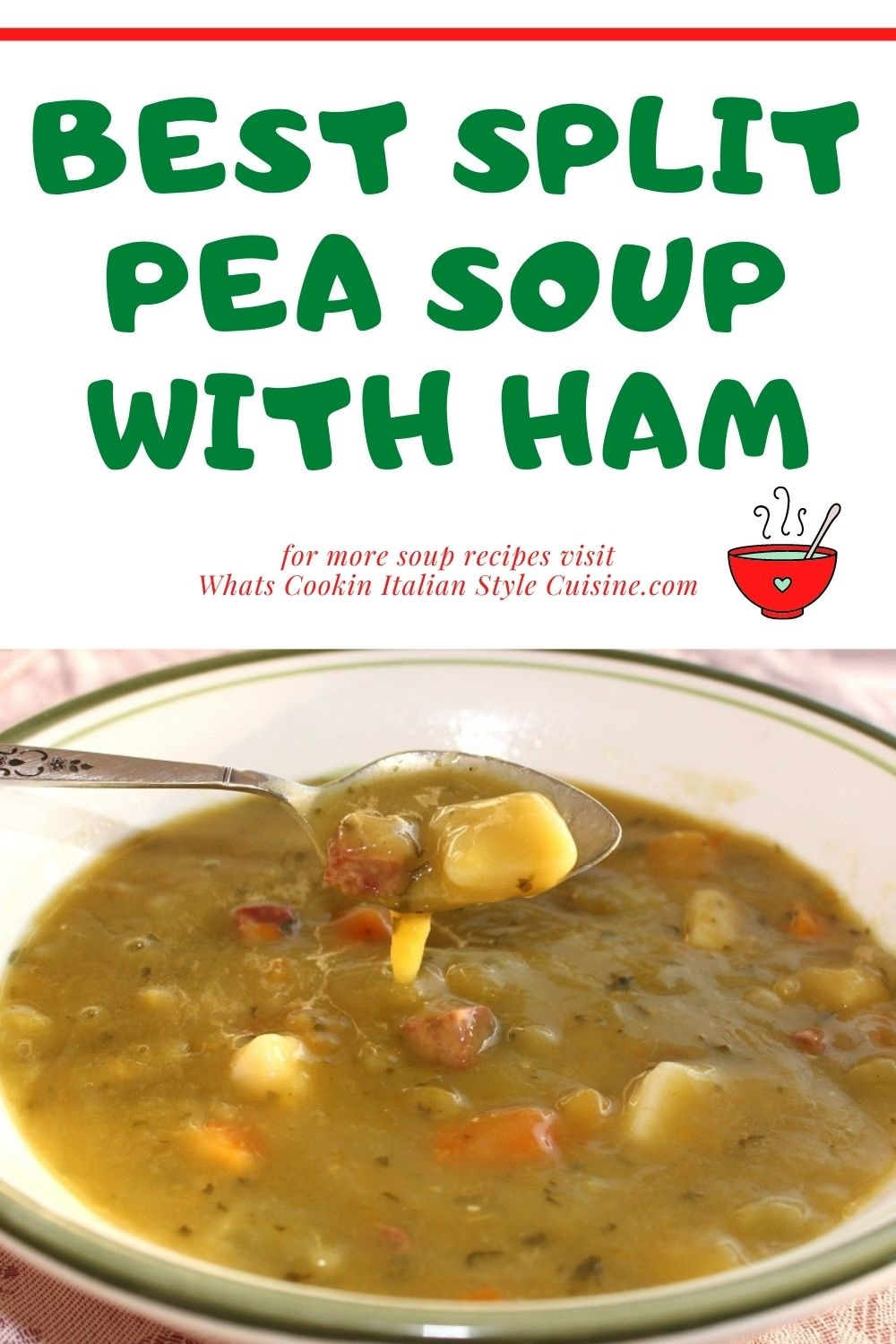 this is a pin for later on how to make split pea soup
