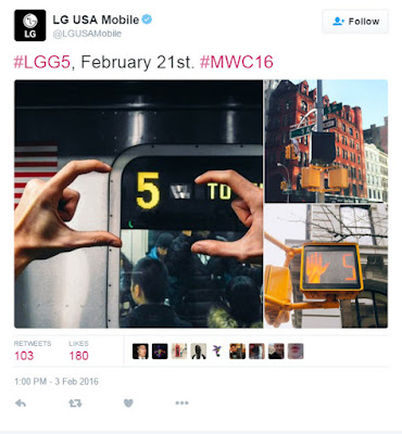 LG G5 Confirmed Release on February 21