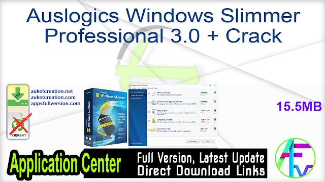 Auslogics Windows Slimmer Professional 3.0 + Crack