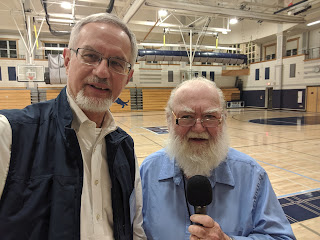 Franklin Falvey and Steve Sherlock (yes, me) getting ready to broadcast