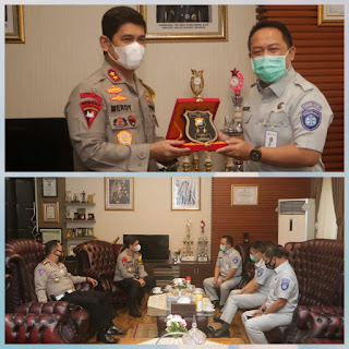 Kapolda Sulsel Audiensi Dengan Kepala Cabang PT. Jasa Raharja (Persero) Sulawesi Selatan