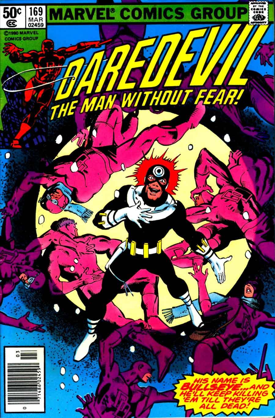 Daredevil v1 #169 bullseye marvel comic book cover art by Frank Miller