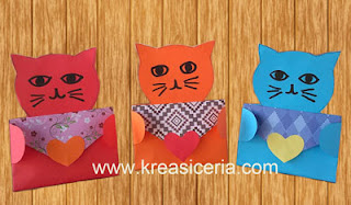 Angpao lebaran dari kertas origami