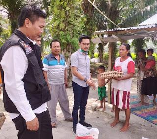 Anggota DPRD Batu Bara Serahkan Bantuan Sembako Dan Material