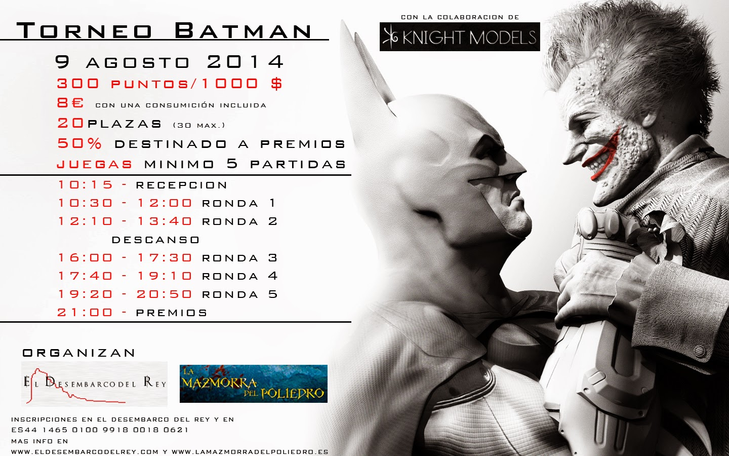 torneo batman miniature game-knight models- malaga- torneo 300 puntos