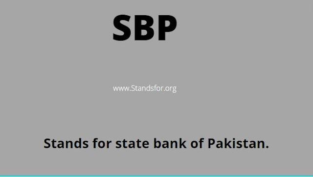 SBP- Sate Bank Of Pakistan