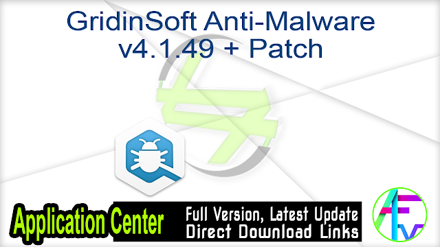 GridinSoft Anti-Malware v4.1.49 + Patch