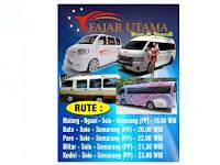 Jadwal Fajar Utama Travel Blitar - Semarang PP