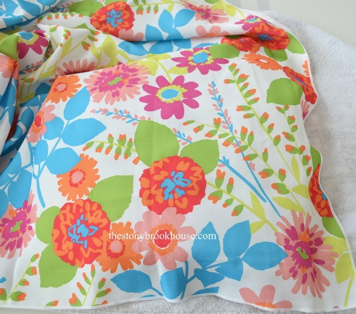Place fabric over seat
