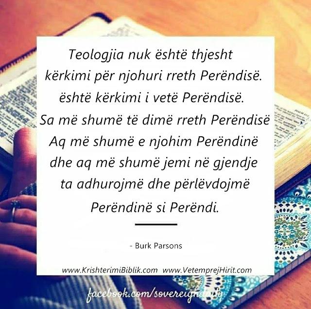 teologjia, Perendia, thenie biblike te krishtera,
