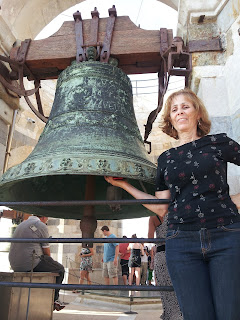One of the bells at the top of the Tower of Pisa