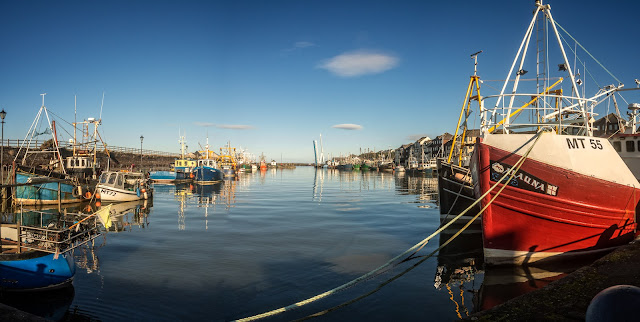 Photo of Maryport Harbour at a very high tide